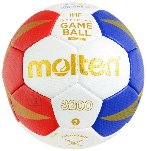 Molten Molten käsipall H3X3200-M7F sünt. nahk, valge/punane/sinine