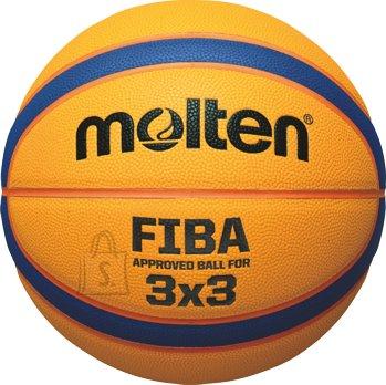 Molten Molten korvpall 3X3, sünt. nahk, FIBA approved, kollane/sinine