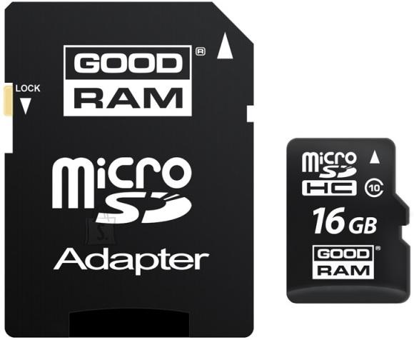 Goodram 16 GB microSD mälukaart UHS1 + adapter