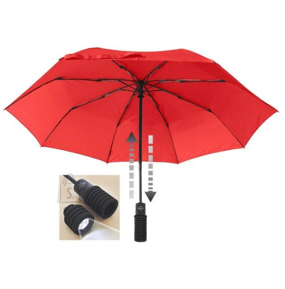 Light Trek punane LED taskulambiga vihmavari