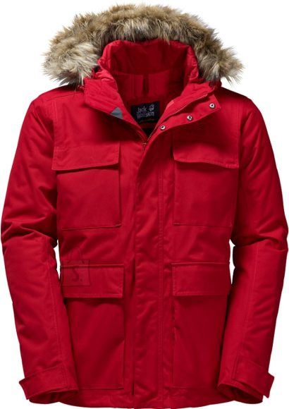 Jack Wolfskin Point Barrow Indian Red meeste parka