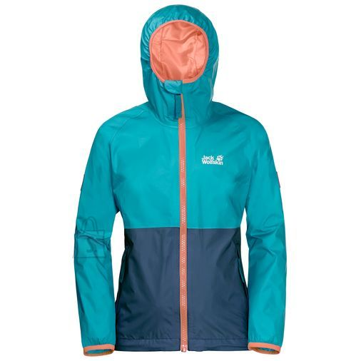 Jack Wolfskin Rainy Days Girls Lake Blue laste jope