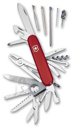 Victorinox SwissChamp läbipaistev punane taskunuga