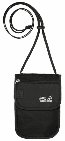 Jack Wolfskin Passport Breast Pouch must kaelakott