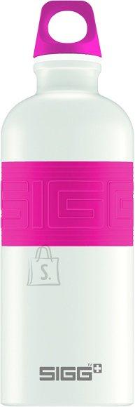 Sigg Cyd valge/roosa 0.6L joogipudel