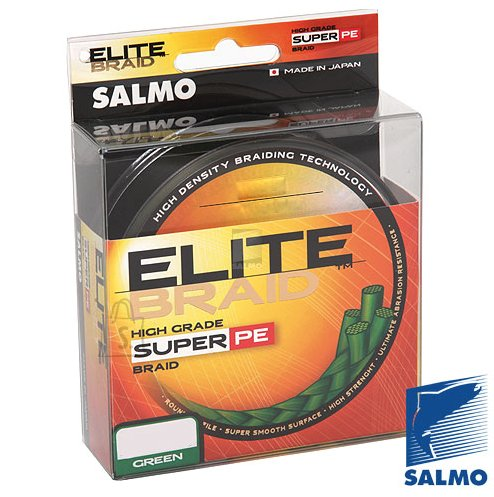 Salmo punutud nöör Elite Braid 0.09 mm 125m roheline