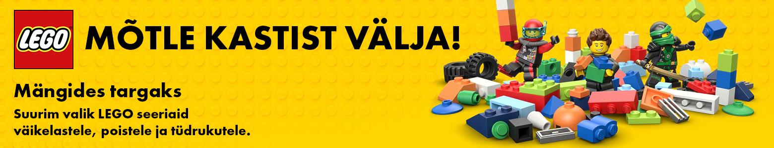 Mõtle LEGO kastist välja ja saa mängides targaks. Suurim valik LEGO seeriaid väikelastele, poistele ja tüdrukutele
