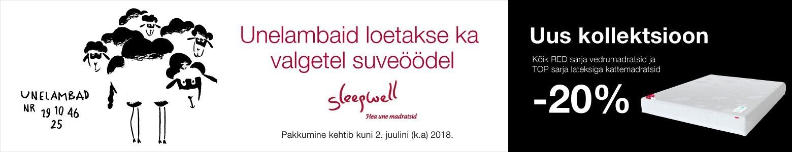 Sleepwelli uus kollektsioon madratsid -20%