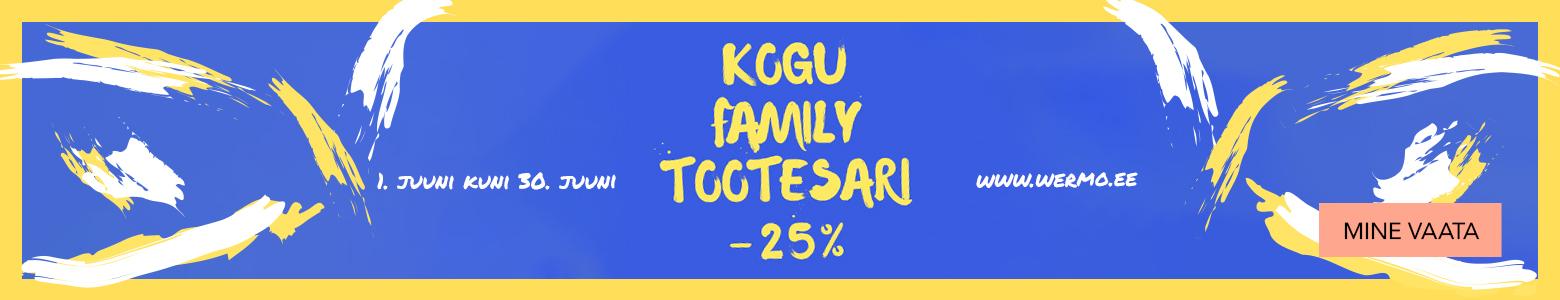 Kogu Family tootesari - 25%