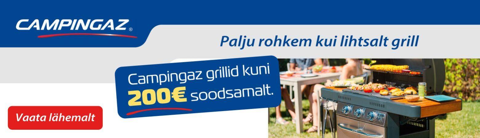 Campingaz grillid kuni 200 EUR soodsamalt