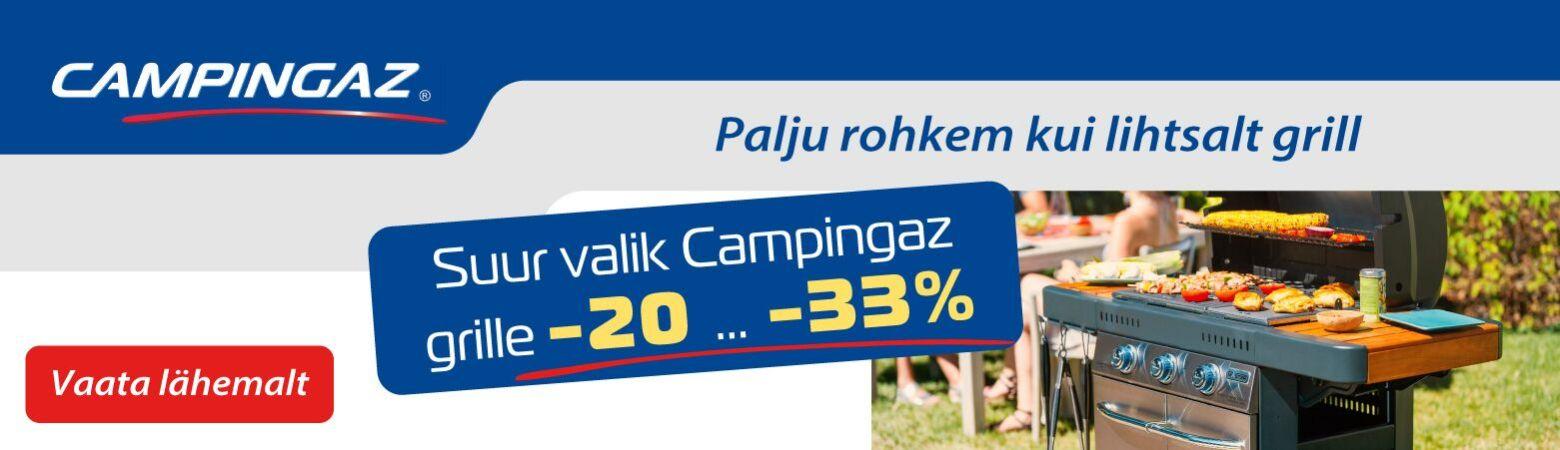 Campingaz grillid -20 kuni -33 % soodsamalt