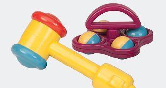 Haamerdamise ja tagumise mänguasjad
