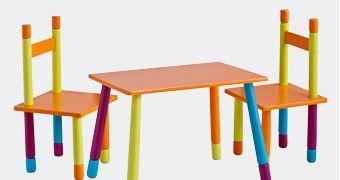Lastelaua ja tooli komplektid