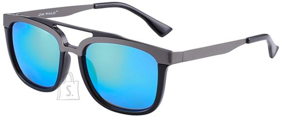 Jim Halo Vintage Browline sinise peegel klaasiga päikeseprillid UV400