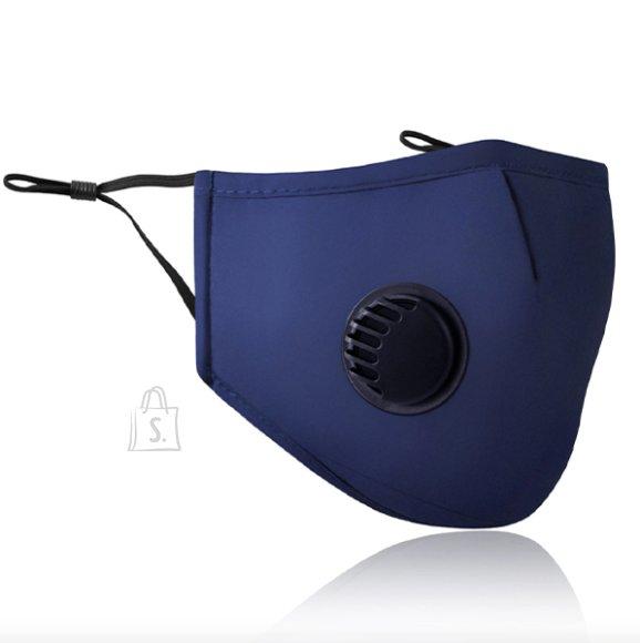 Kolmekihiline korduvkasutatav filtritega näomask, sinine