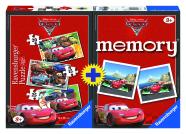 Ravensburger puslede + memoriini komplekt Cars 2