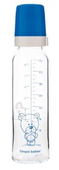Canpol klaasist lutipudel 240 ml, 12 k+