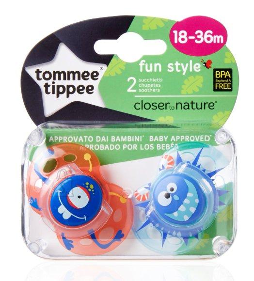 Tommee Tippee Fun Style silikoonist lutt poisile 18-36 k 2 tk