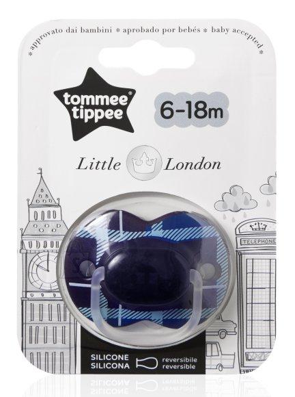 Tommee Tippee London Boy silikoonist lutt 6-18 k