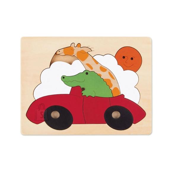 Hape puidust pusle Sportauto, 11-osaline