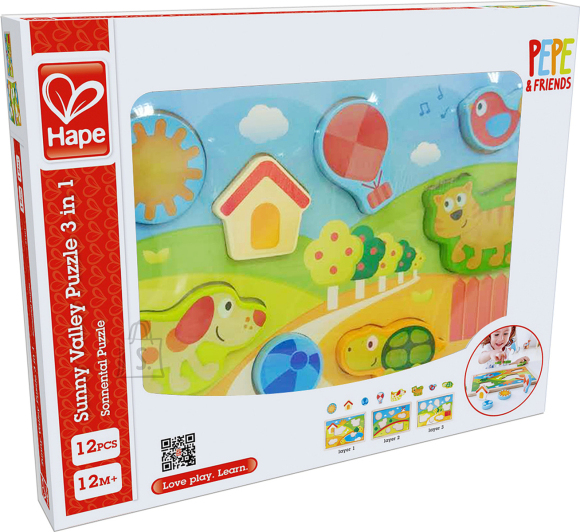 Hape HAPE Sunny Valley pusle 3in1, E1601A