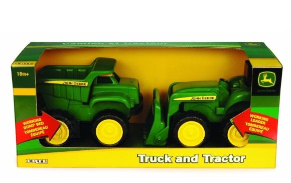 Ertl kalluri ja traktori komplekt John Deere