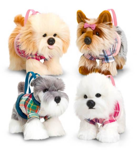 Keel Toys pehme koer-käekott, 30 cm, erinevad variandid