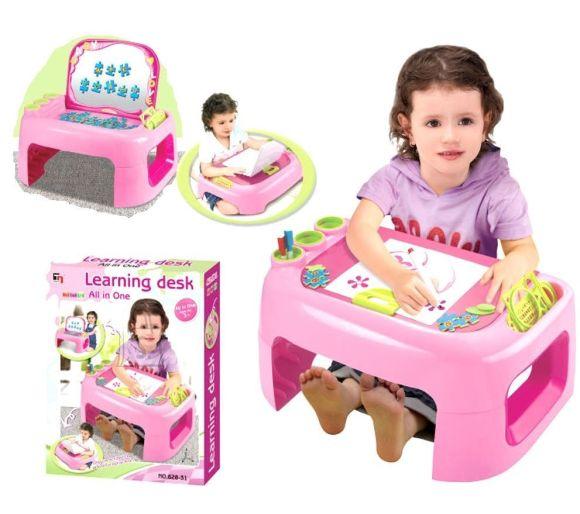 Laste kirjutuslaud/mängukeskus, tüdrukutele