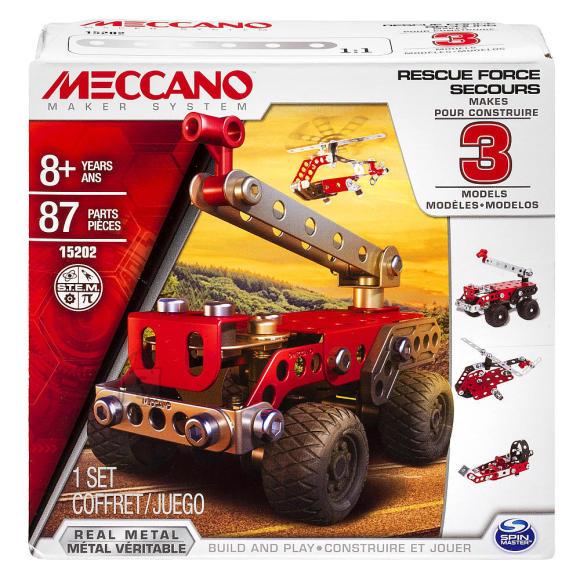 Meccano konstruktor päästesõidukid 3in1