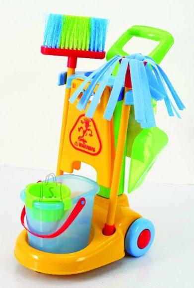 Playgo laste koristamiskomplekt käruga Make Belive
