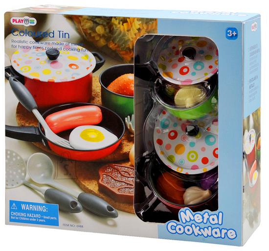 Playgo metallist kööginõude komplekt