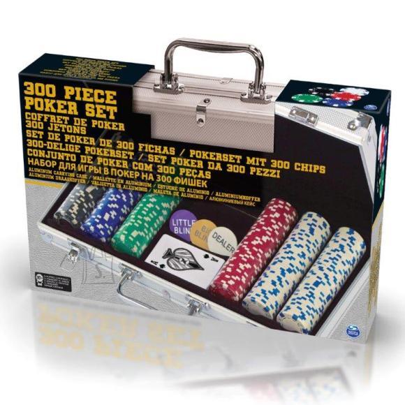 Suur pokkeri komplekt alumiiniumist kohvris, 300-osaline
