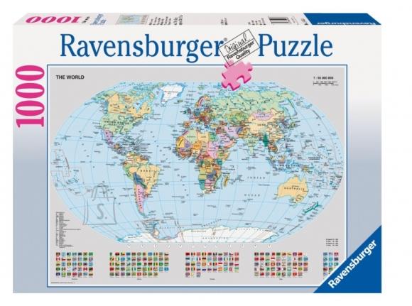 Ravensburger pusle Poliitiline maailma kaart, 1000-osaline