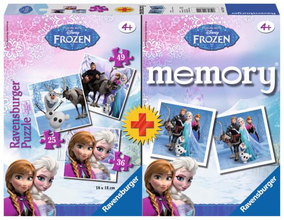 Ravensburger puslede + memoriini komplekt Frozen
