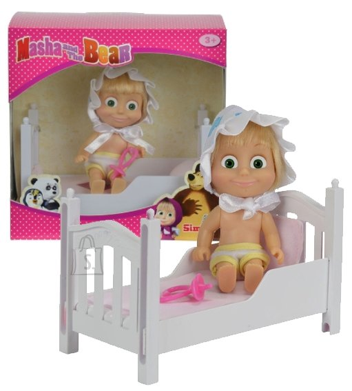 Simba Maša ja Karu nukk voodiga