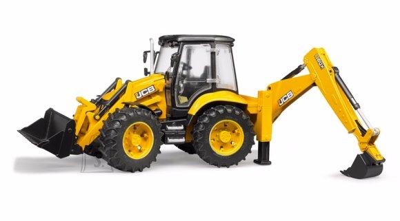 BRUDER traktor JCB 5CX Eco tagumise laaduriga, 02454