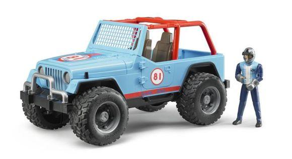 Bruder sinine Jeep + autojuhi kujuke 1:16
