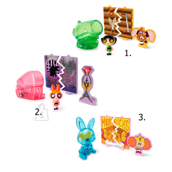 Cartoon Network Power Puff Girls mängukomplekt Aura Power Pods