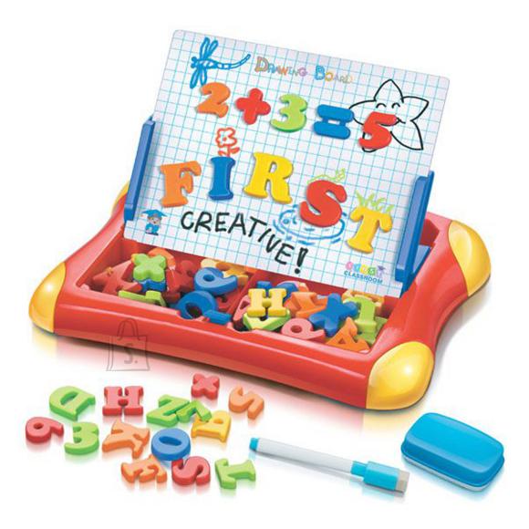 Huamei Toys väikelapse tahvel magnetiga - punane