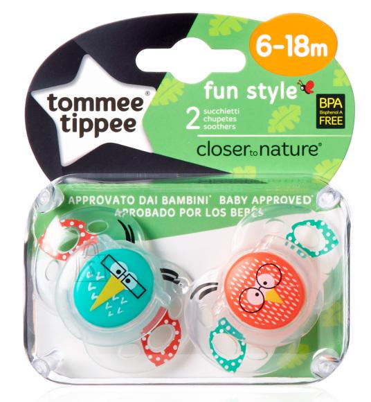 Tommee Tippee Fun Style silikoonist lutt 6-18 k 2 tk