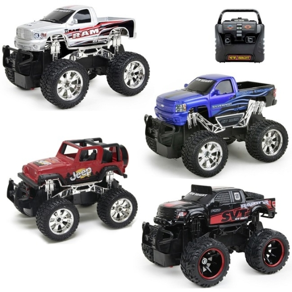 NEW BRIGHT 1:24 R/C monsterauto FF, asst, 2424