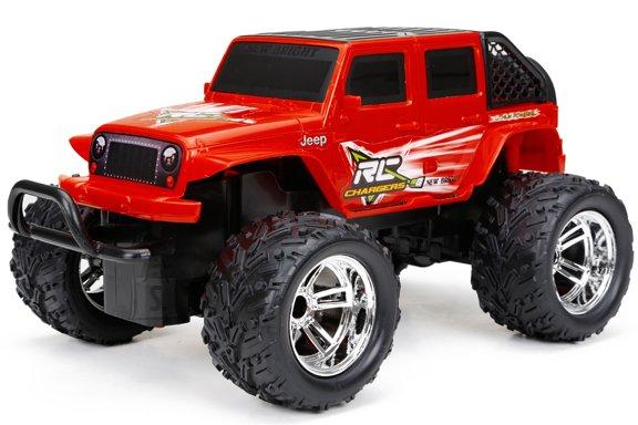 NEW BRIGHT 1:18 R/C monsterauto FF Jeep/Ford asst, 61822