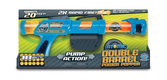 Power Popper mängupüstol Atomic DBL Barrel 18x