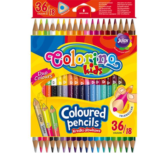 COLORINO CREATIVE Kolmnurksed värvilised pliiatsid 18 tk / 36 värvi, 68512PTR