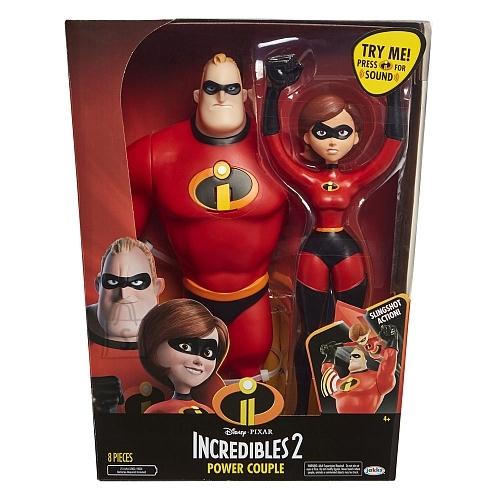 Jakks Incredibles 2 tegelaskujude komplekt Härra Imeline ja Elastiknaine