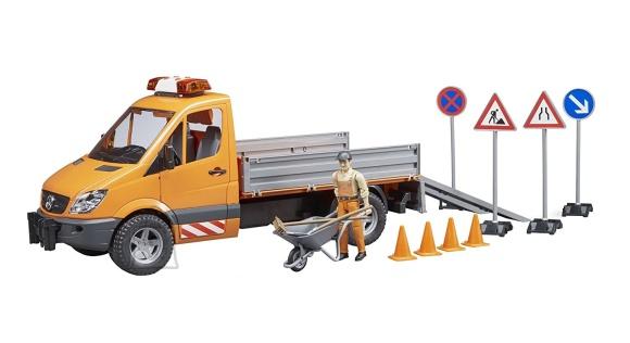 BRUDER MB Sprinter teetööliste auto; sisaldab valgustus- ja helimoodulit, töölist ja töövahendeid, 02537