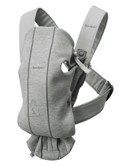 BABYBJÖRN kõhukott Mini, Light Grey, 3D Jersey