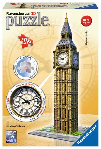Ravensburger RAVENSBURGER pusle Big Ben with clock 216 pcs., 12586