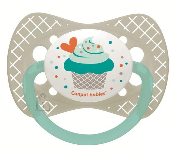 CANPOL BABIES silikoonist sümmeetriline lutt Cupcake, 18m+ roosa, 23/284_pin