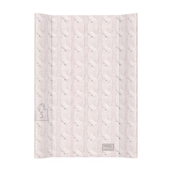 CEBA mähkimislaud lühike 50x80 Pastel Collection Cable stitch Pink